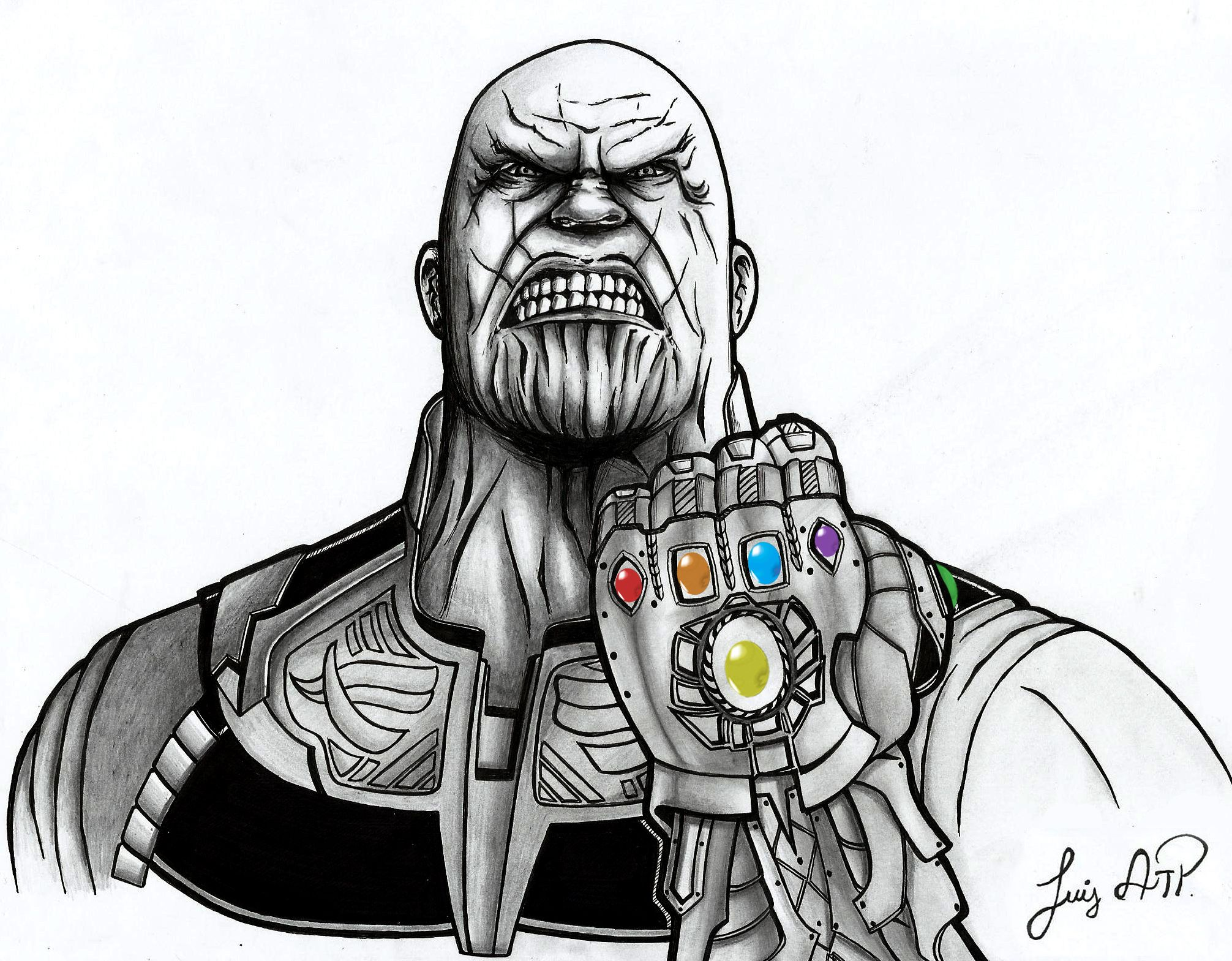 Thanos draw dibujo