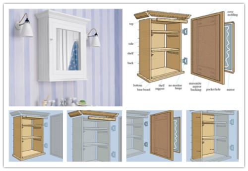 28+ Bathroom wall cabinet diy plans ideas
