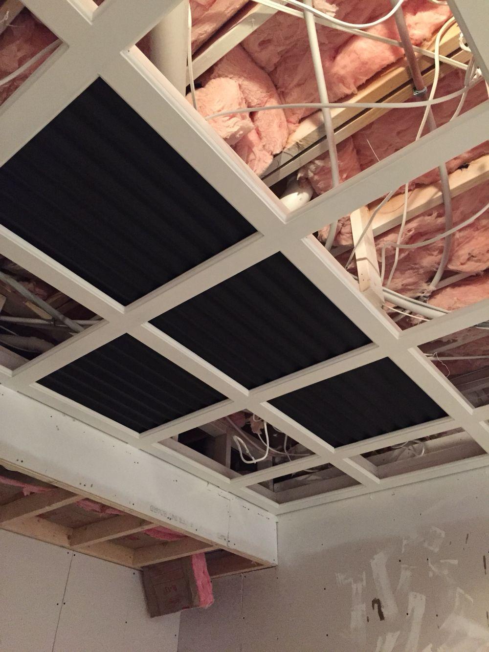 Custom Framed Drop Ceiling Progress