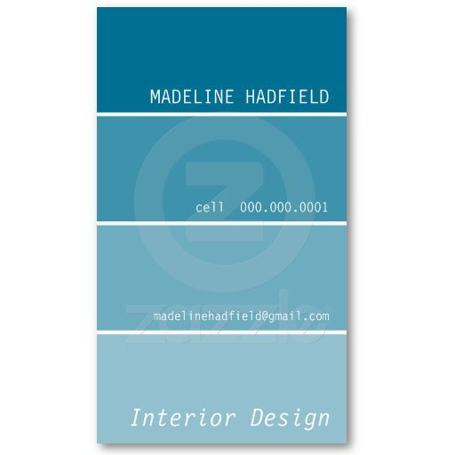 The Perfect Painter Or Interior Designer BUSINESS CARD Design - Painter business card template