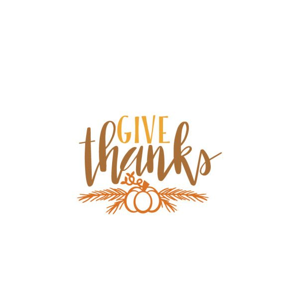 Give Thanks Thanksgiving Phrase Svg Scrapbook Cut File Cute Clipart