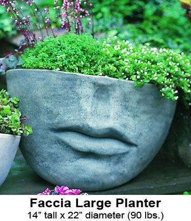 Cast Stone Garden Planters: Faccia Large Planter