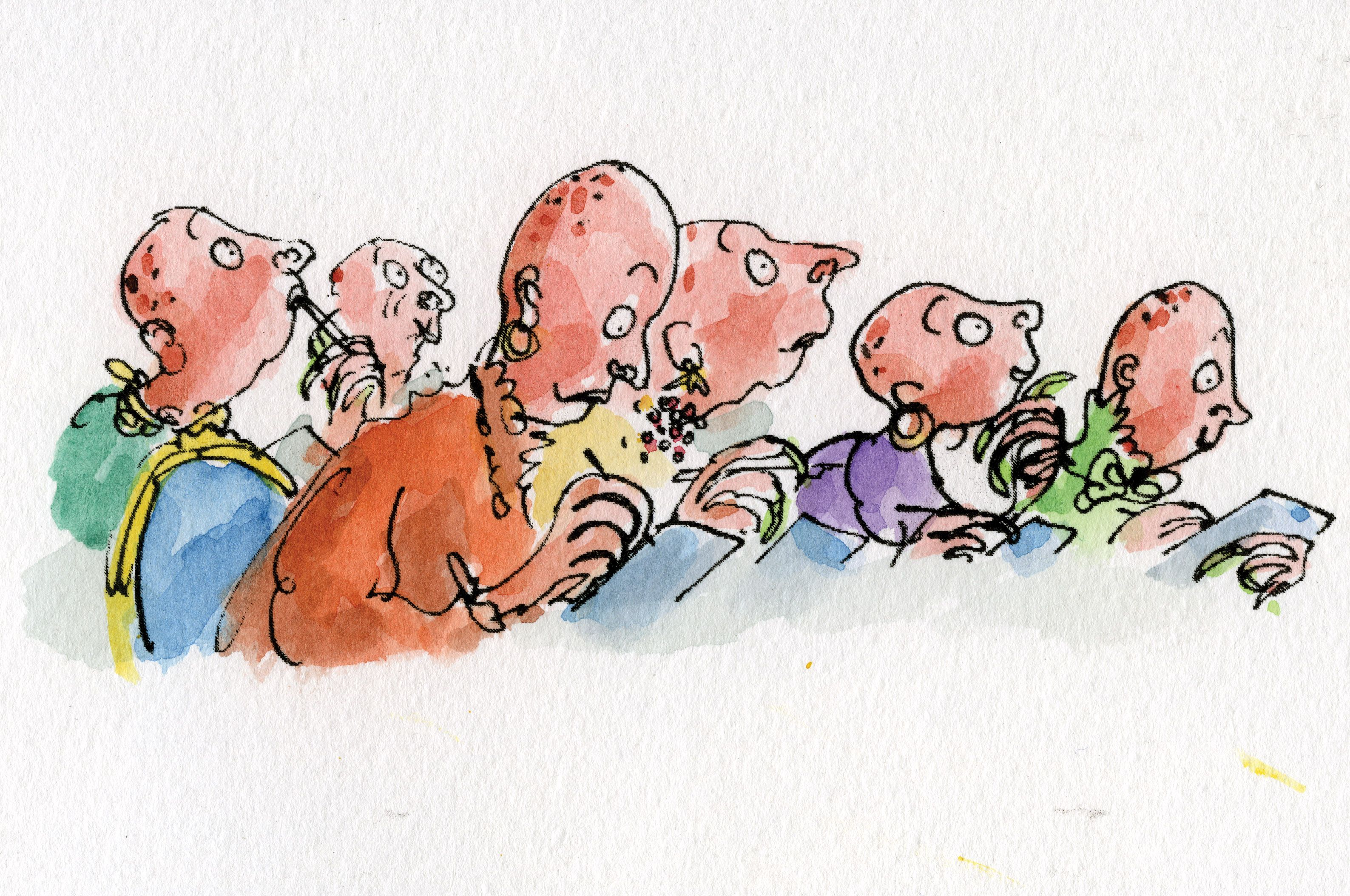 Quentin Blake Illustration The Witches By Raold Dahl