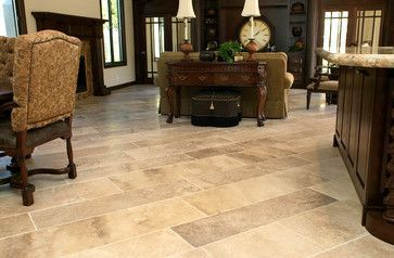 Large Rectangle Subway Tile Floor Flooring Pinterest