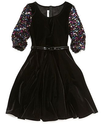 Bonnie Jean Girls Dress, Little Girls Multi-Color-Sequin Dress - Kids Girls Dresses - Macy's