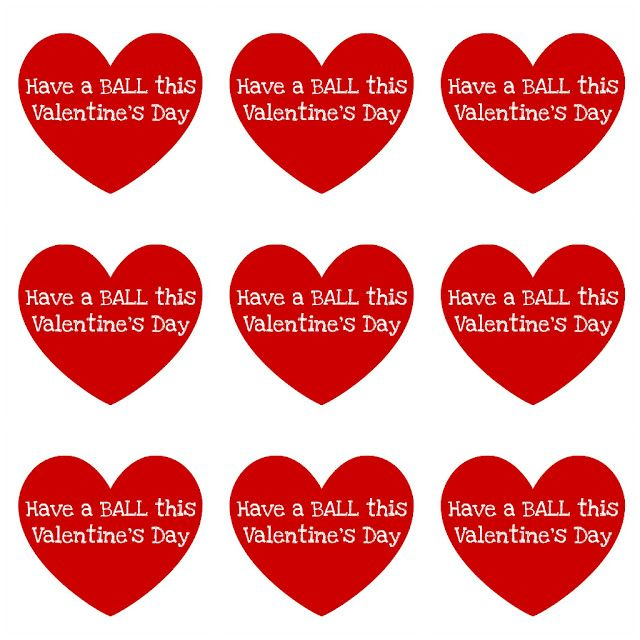 Have a Ball this Valentine's Day Printable DIY Valentines ...