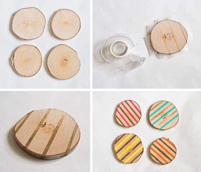 Pointless Pretty Things: DIY Wood Slice Coasters | Craft | DIY ...