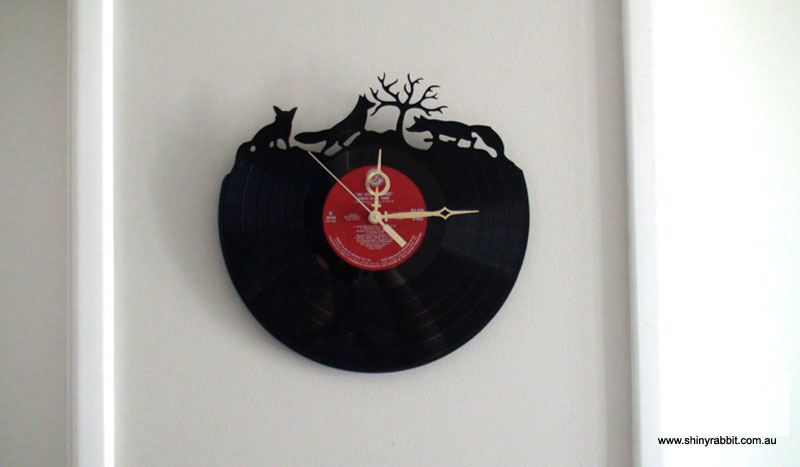 Running wild.. Love this by Shiny Rabbit Laser cut clock