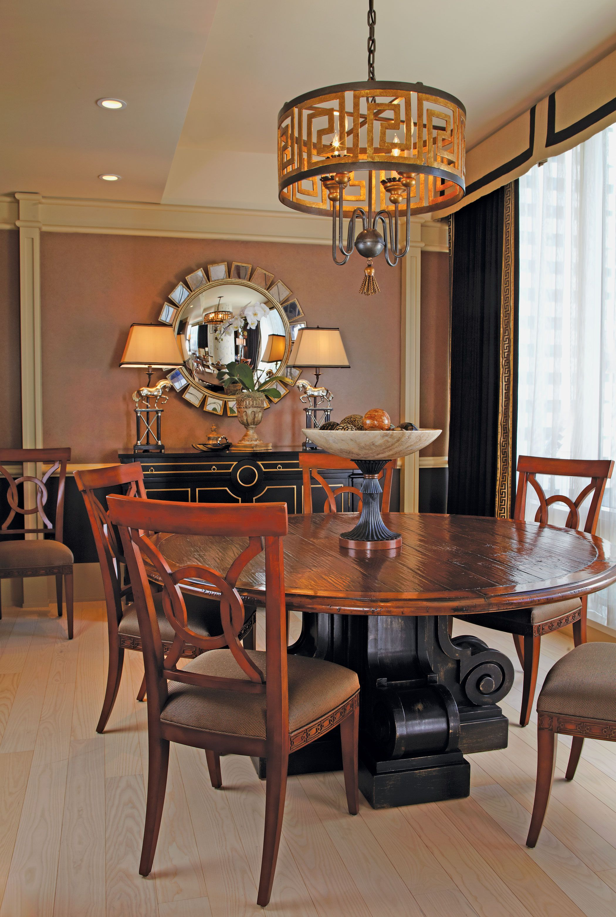 Exclusive modern classic interior design in home striking dining room with circular table millennium tower san francisco also astonishing rh za pinterest