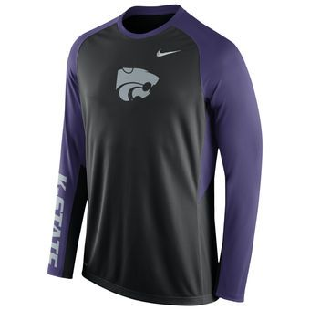 Nike Kansas State Wildcats Black Elite Basketball Pre-Game Shootaround Long  Sleeve Dri-FIT
