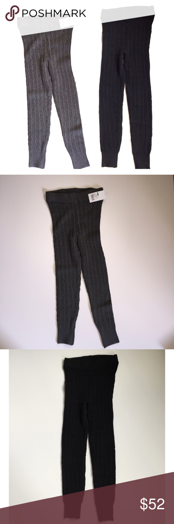 Sold 2 Pairs Cable Knit Sweater Leggings Cable Knit