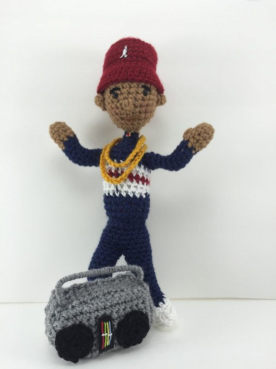 LL Cool J Inspired Amigurumi Crochet Collectible Doll | Muñecas