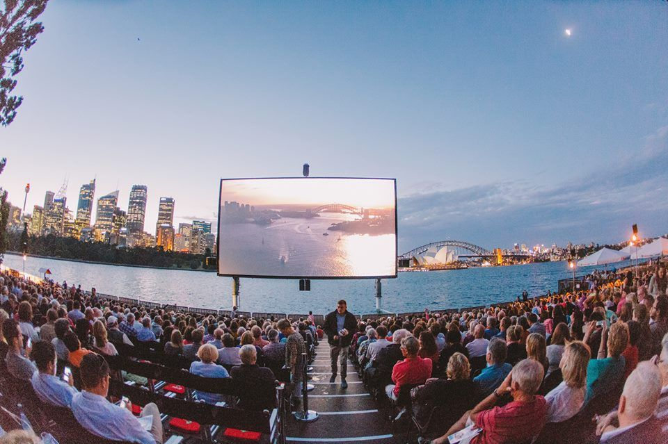 *Open Air Cinema* *Overlooking Sydney Harbour, Australia