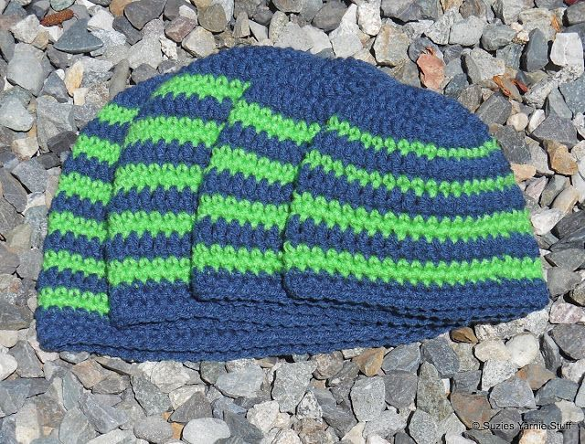 Crochet Beanies ~ sizes range from baby to adult ~ Suzies Stuff