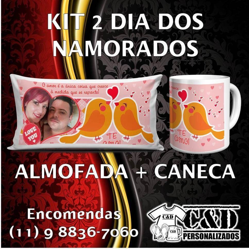 DIA DOS NAMORADOS Almofada 15x30cm  caneca - R$4000. #diadosnamorados #amor #presente #almofada