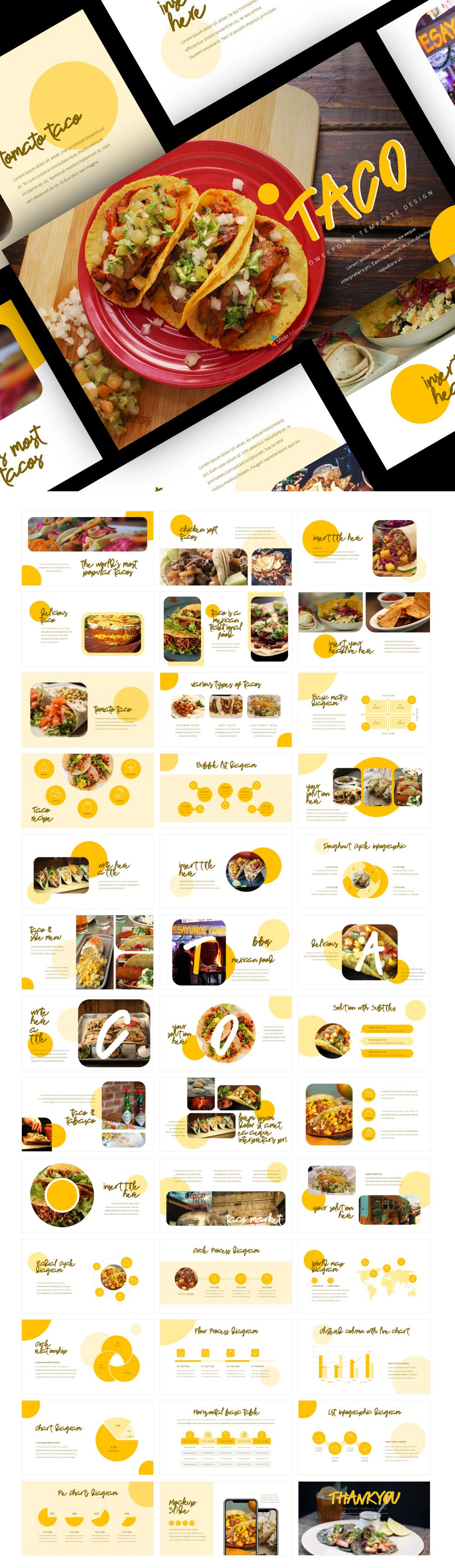 Mexican Taco Restaurant Food Powerpoint Design Restaurant Recipes Taco Restaurant Food