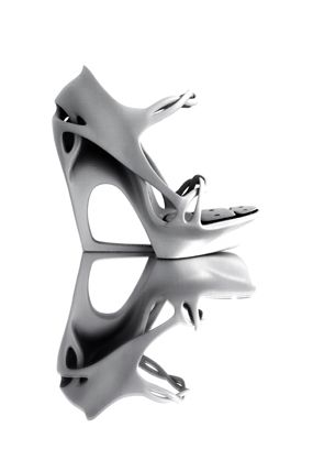 Morphogenesis 3D printed shoe Pauline van Dongen  #shoes #white