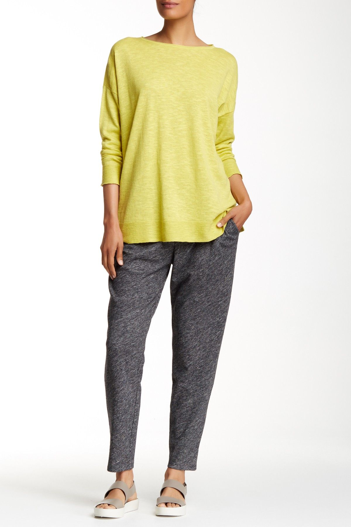 Wool Blend Knit Slouchy Pant by Eileen Fisher on @nordstrom_rack-- looks super comfy, + WOOL can't go wrong.  like the charcoal too; it elevates the pants