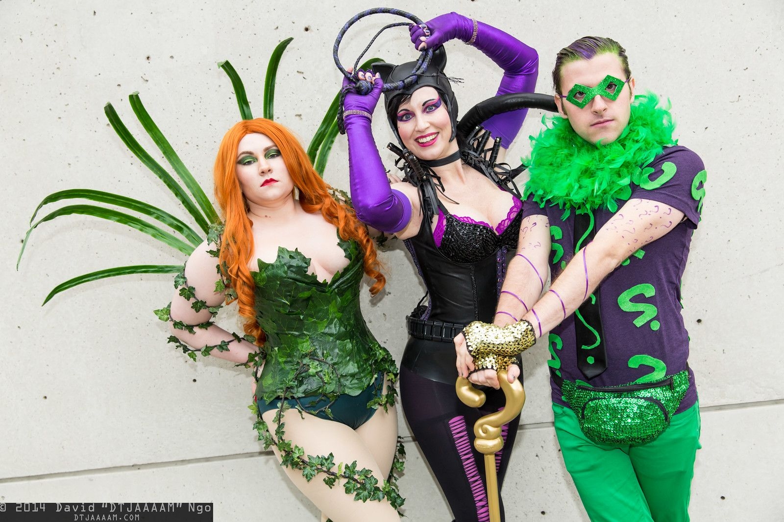 Poison Ivy, Catwoman, and Riddler #NYCC2014 #DTJAAAAM