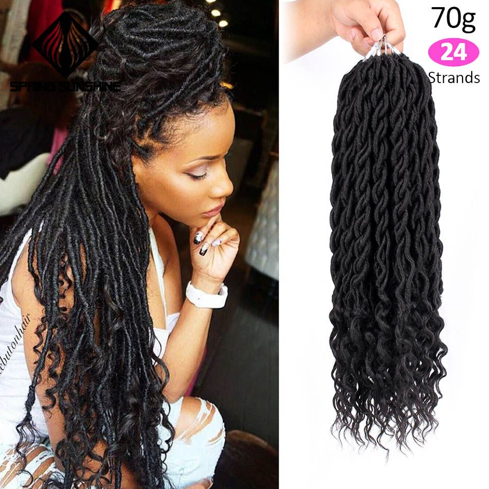 Pin By Misses Robinson On Goddess Braids For Me In 2020 Curly Faux Locs Curly Crochet Hair Styles Crochet Hair Styles