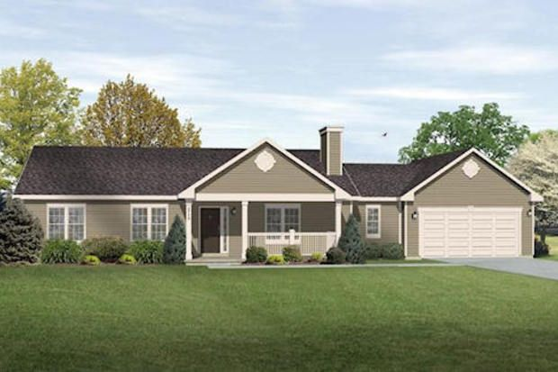 Ranch Style House Plan 3 Beds 2 Baths 1789 Sq Ft Plan 22 544 Ranch House Exterior Ranch House Designs Rancher House Plans