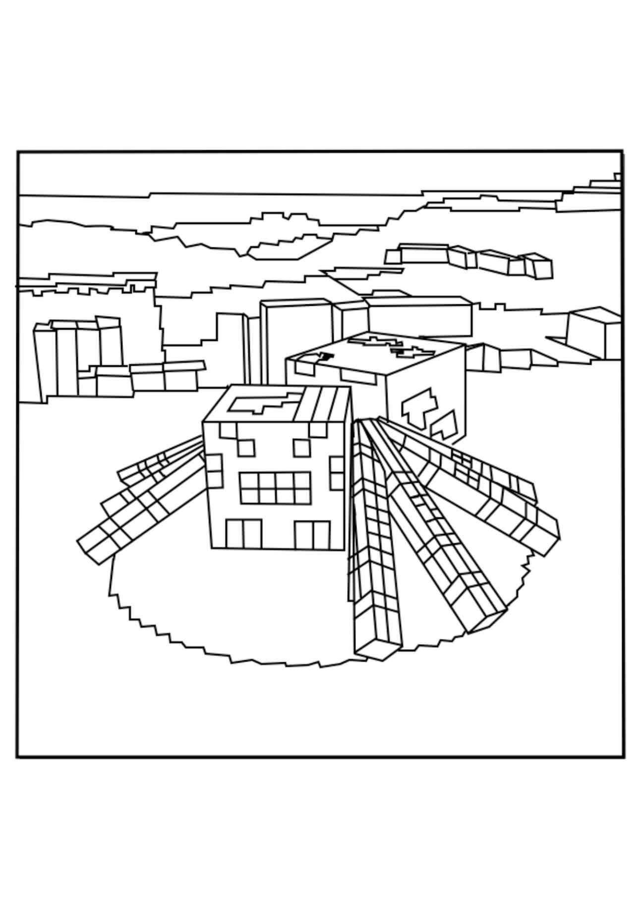 Minecraft Spider Coloring Page Youngandtae Com In 2020 Spider Coloring Page Coloring Pages Minecraft Coloring Pages