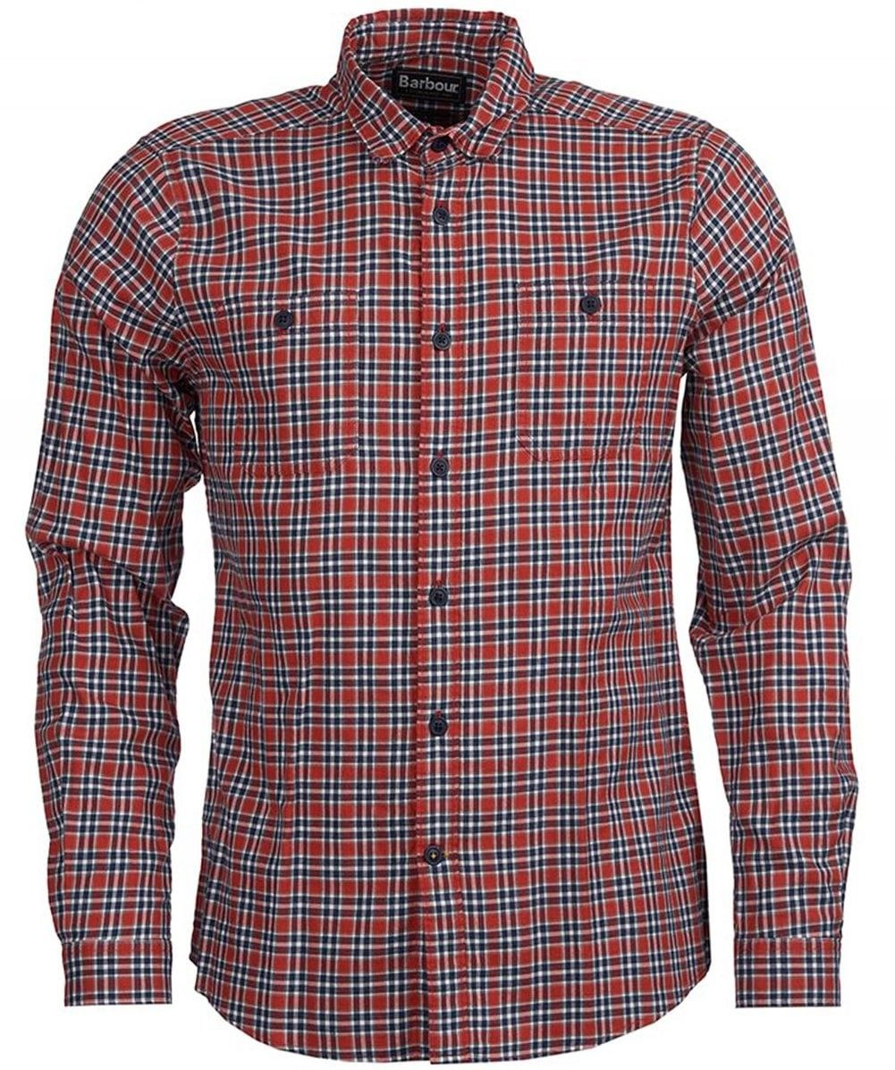 0d07c963b22 BARBOUR TAILORED FIT CHECK BONITO SHIRT IN RED.  barbour  cloth ...