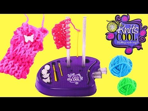 Knits Cool Knitting Studio - From the makers of Sew Cool Sewing Machine - YouTube