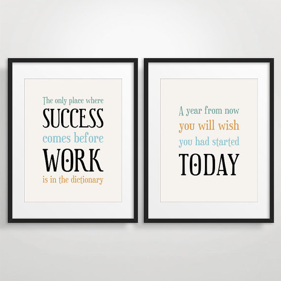 Office Decor Typography Posters Inspirational Quote Art