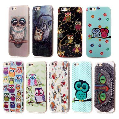 Ultrathin Owl Pattern TPU Material Back Case for iPhone 6 / 6S - 4.7 inches #men, #hats, #watches, #belts, #fashion, #style