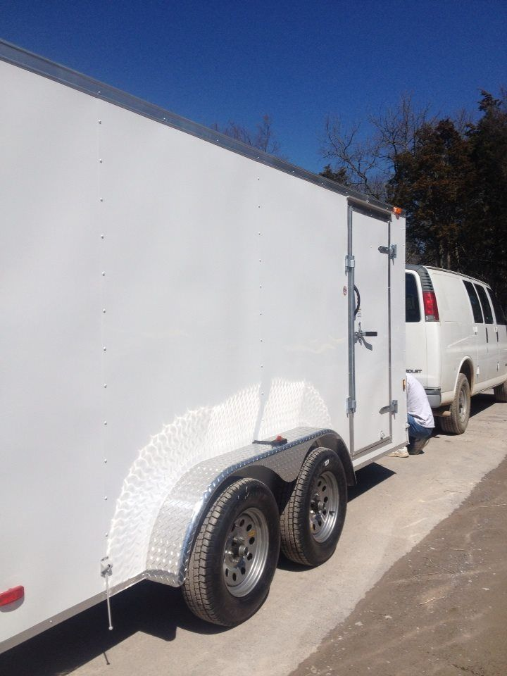 Our cargo trailer soon to be a camper