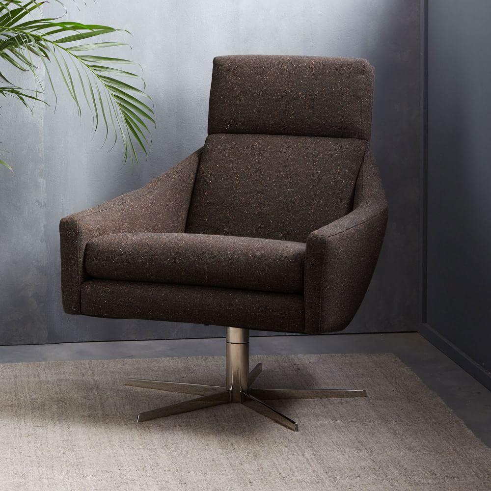 Best Austin Swivel Armchair Living Room Chairs Modern Swivel 400 x 300