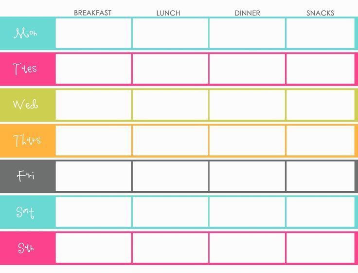 Weekly ...  Free Weekly Menu Templates