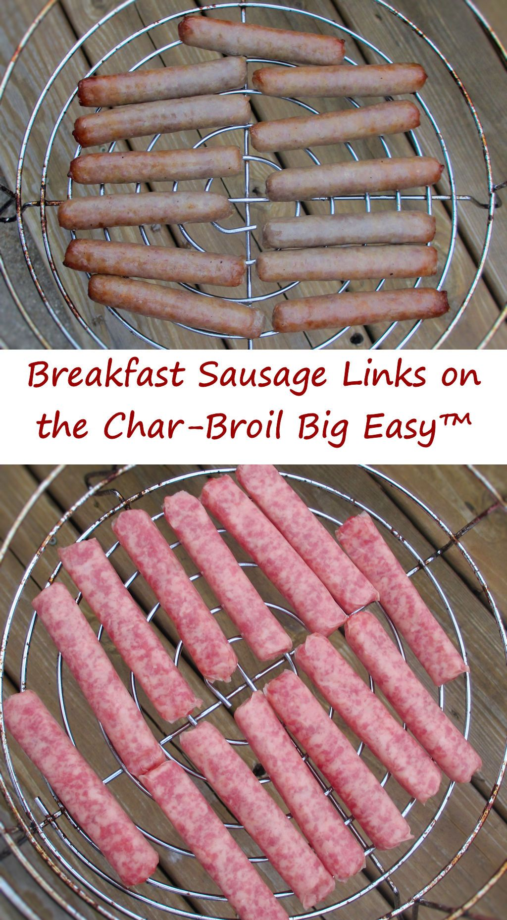 Breakfast Sausage Links on the CharBroil Big Easy