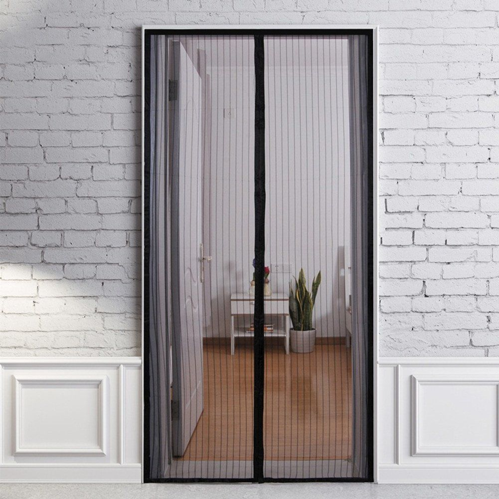 Magnetic Mesh Screen Door Portable Bug Mosquito Insect Screen Magnetic Screen Door Mesh Screen Door Insect Screen Door
