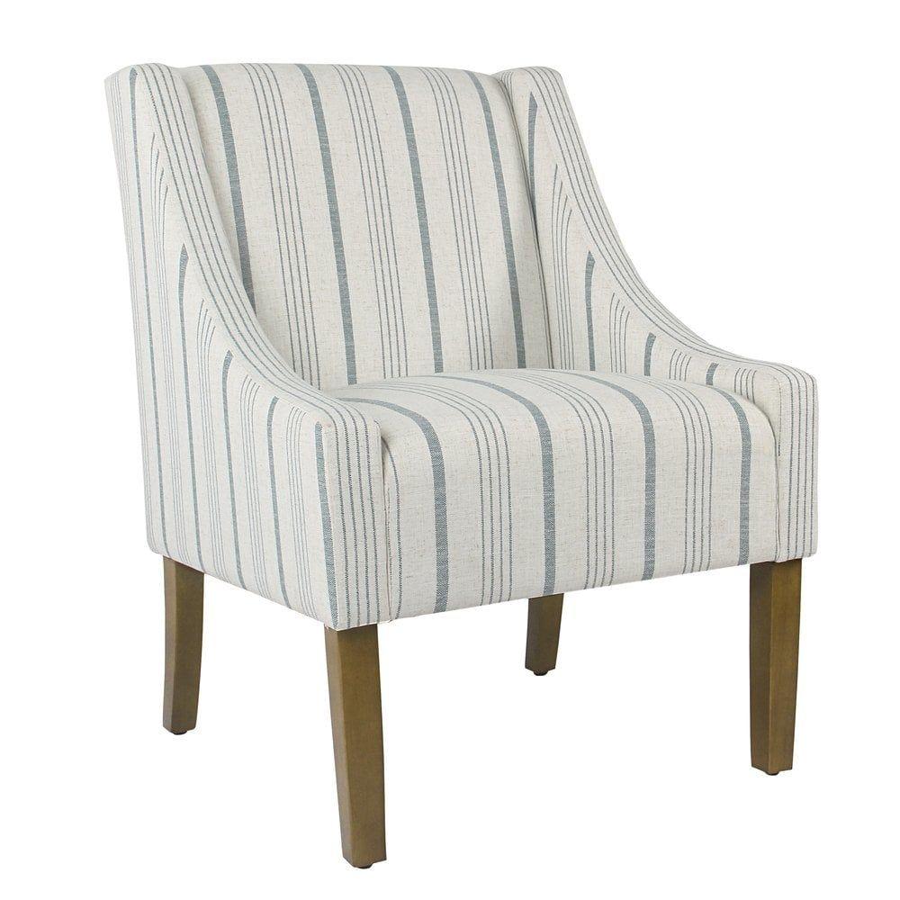Best Homepop Modern Swoop Accent Chair Blue Calypso Stripe 400 x 300
