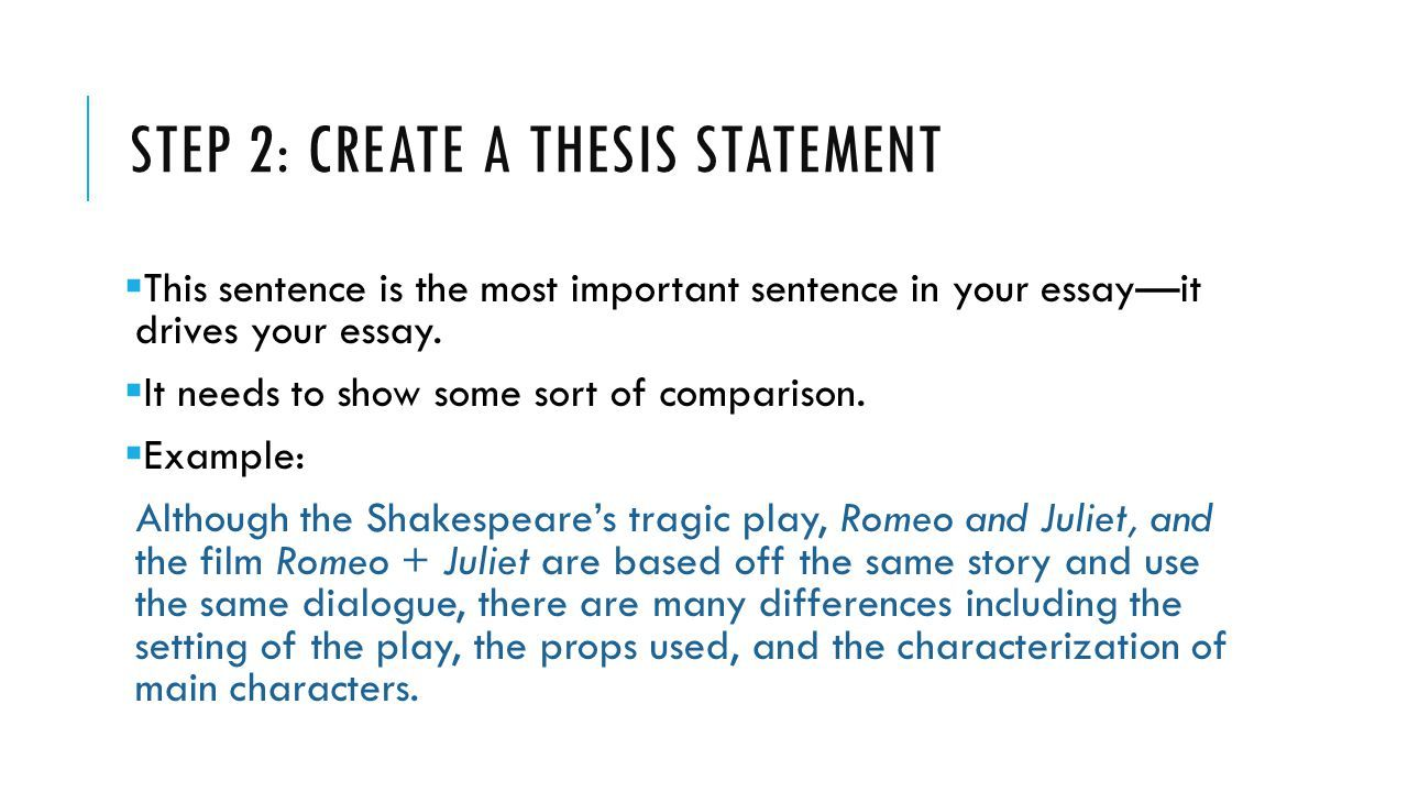 compare and contrast essay samples
