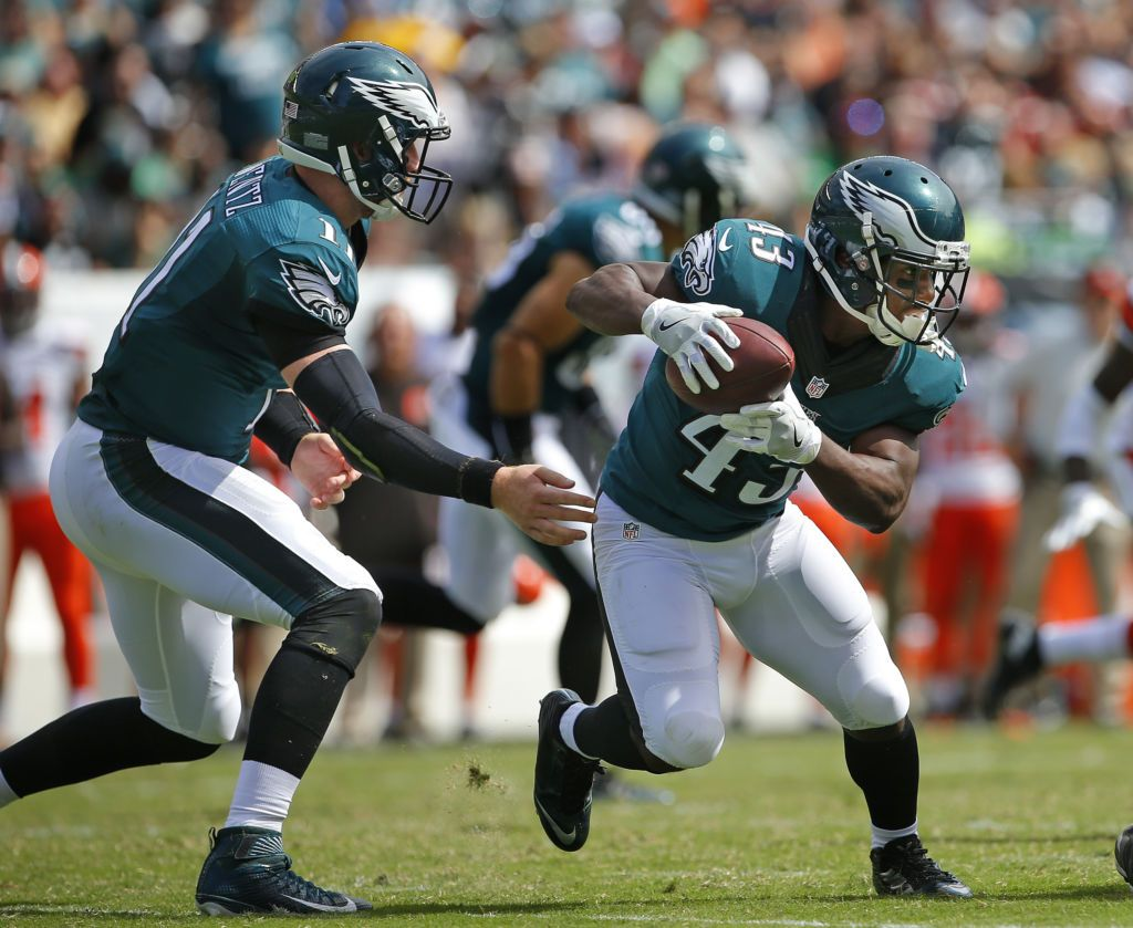 Eagles vs. Packers (Carson Wentz, Darren Sproles) Nfl
