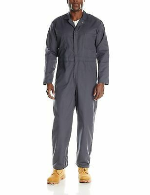 Ad(eBay Url) Red Cap Mens Coveralls Gray Size 42 Long Sleeve Twill Action Back $70- #085