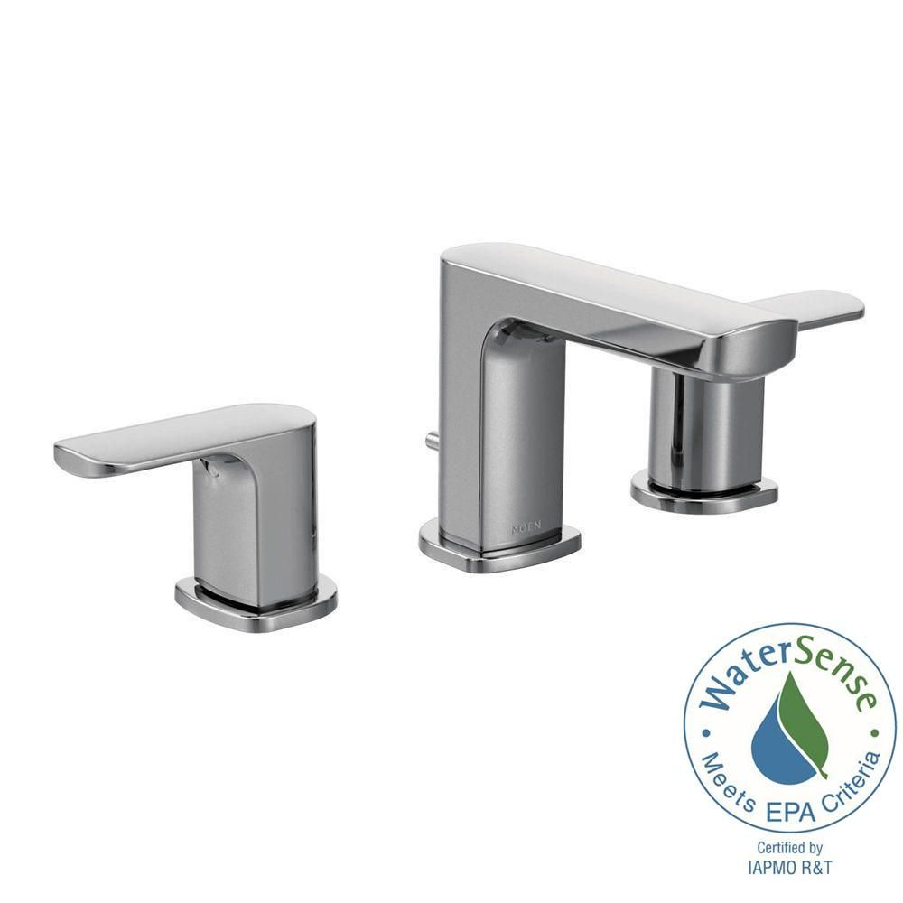 Moen Rizon 8 Inwidespread 2Handle Bathroom Faucet Trim Kit In Brilliant Home Depot Moen Bathroom Faucets Decorating Inspiration