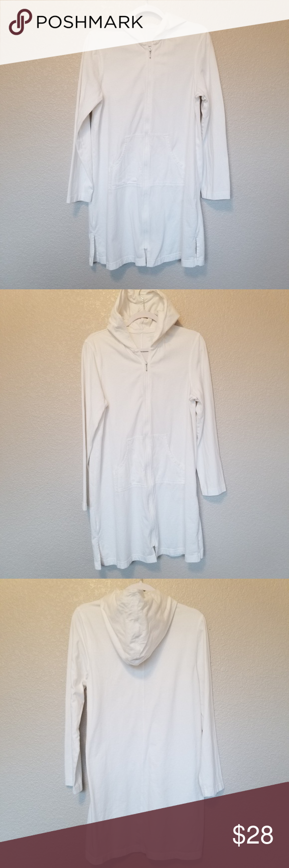 Lands End Zip Up Tunic Hoodie Size Medium Tunic Hoodie Hoodies Tunic Tops [ 1740 x 580 Pixel ]