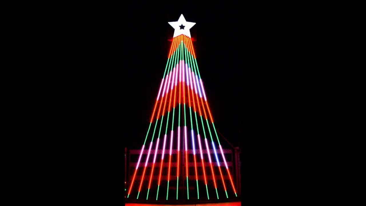 The Led Light Show Tree 9 Hammacher Schlemmer Outdoor Christmas Tree Christmas Light Show Christmas Tree Lighting
