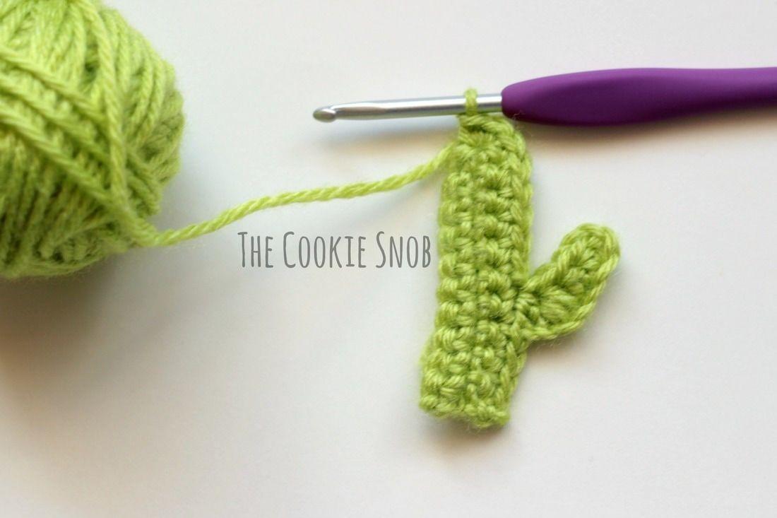 Cactus Applique Free Crochet Pattern | Proyectos que debo intentar ...