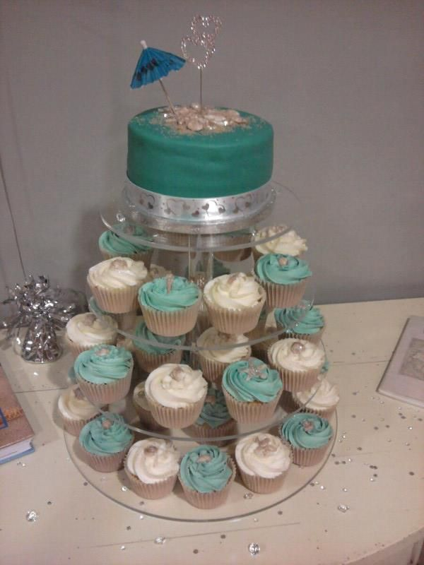 Beach Theme Wedding Cupcakesi Need This Stand Wedding Cake