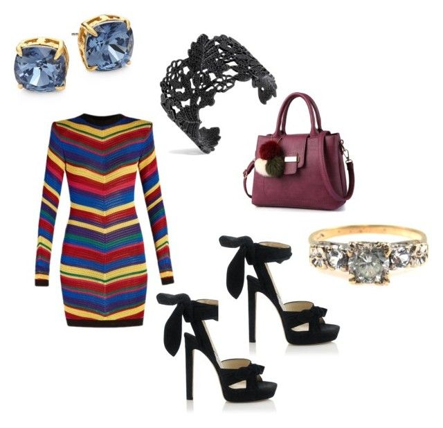 """""""YOLO"""" by cole222 on Polyvore featuring Balmain, Jimmy Choo and Tory Burch"""