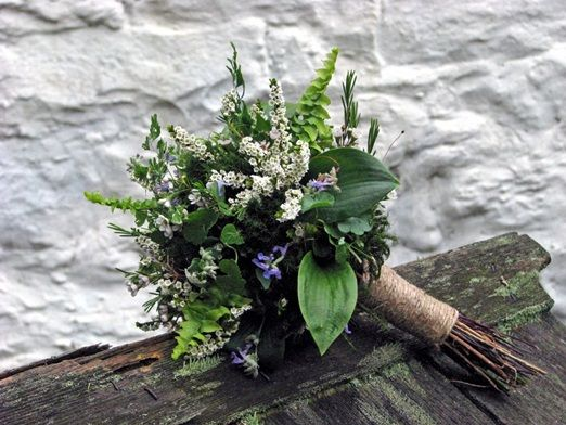 Woodland bridal bouquet with ferns