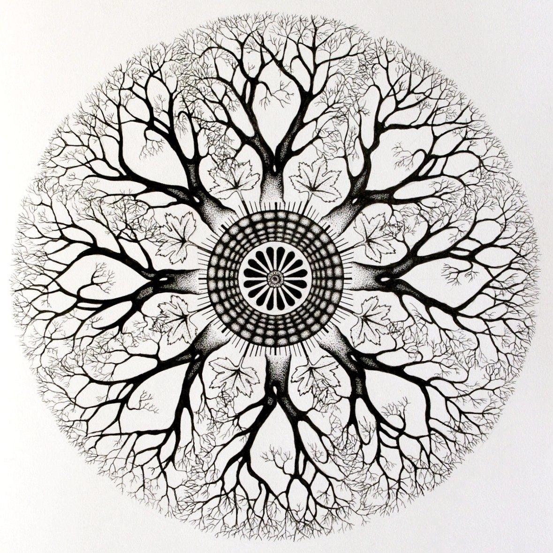 Custom Mandala Tree Circle Tattoo Design Mandala Tattoos Tumblr Circle Tattoo Circle Tattoo Design Tree Of Life Tattoo