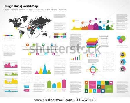 Stock vector infographics set world map and information stock vector infographics set world map and information graphics gumiabroncs Gallery