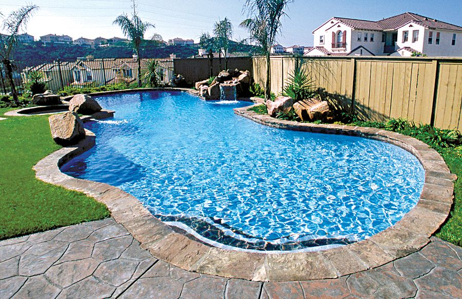Free Form Pool Ideas in 2020 Backyard pool landscaping