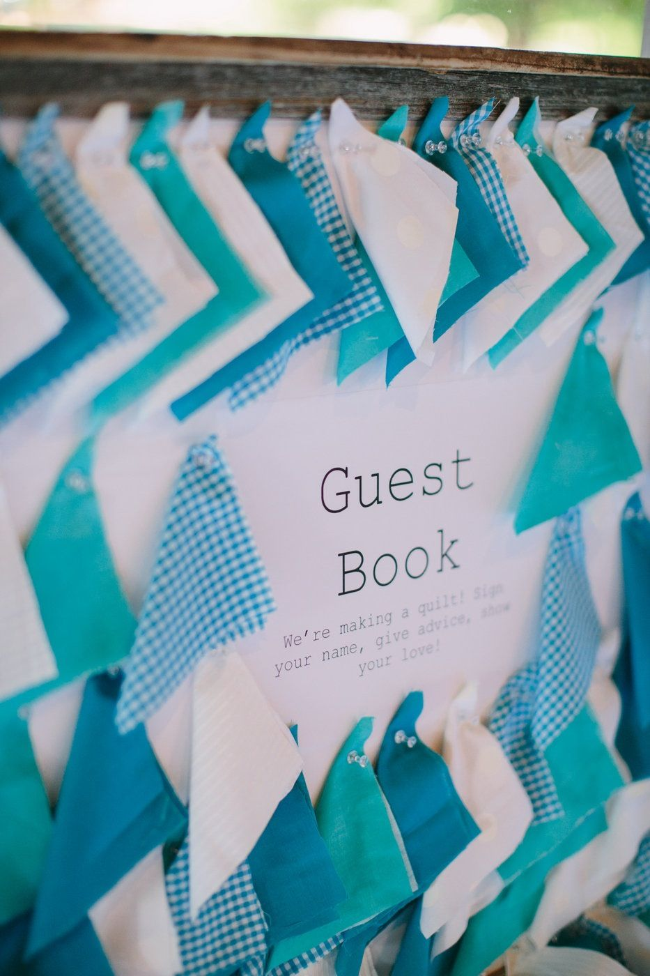 Quilt Guest Book - Get the guests to write down their well wishes on ...